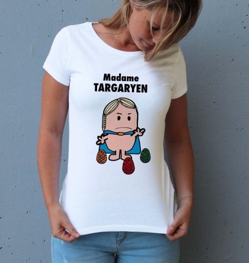 T-shirt pour Femme Madame Targaryen de couleur Blanc