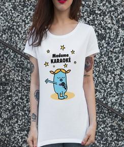 T-shirt 100% coton bio Madame Karaoké