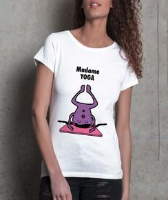 T-shirt 100% coton bio Madame Yoga
