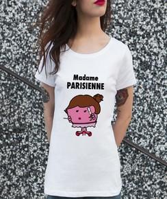 T-shirt 100% coton bio Madame La Parisienne