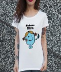 T-shirt 100% coton bio Madame Selfie