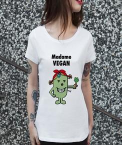 T-shirt 100% coton bio Madame Vegan