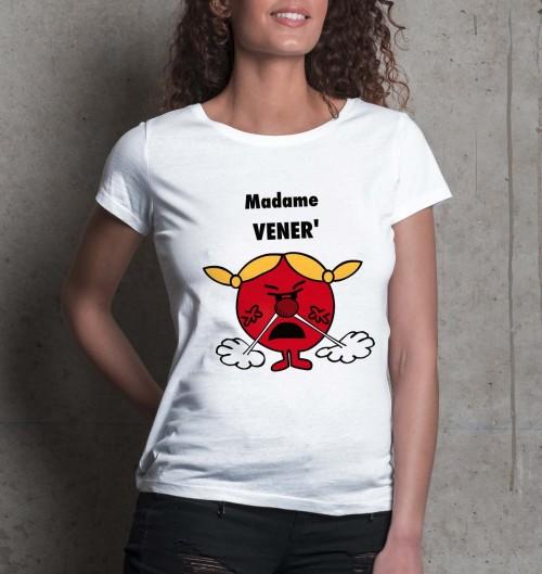 T-shirt pour Femme Madame Vénère de couleur Blanc