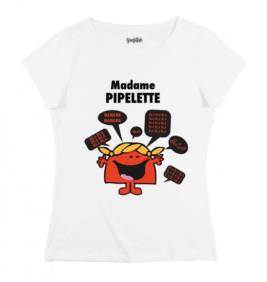 t shirt madame pipelette tee shirt dr le monsieur madame. Black Bedroom Furniture Sets. Home Design Ideas