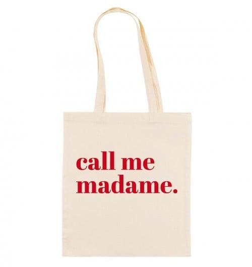 Tote Bag pour Femme Call Me Madame de couleur Crème
