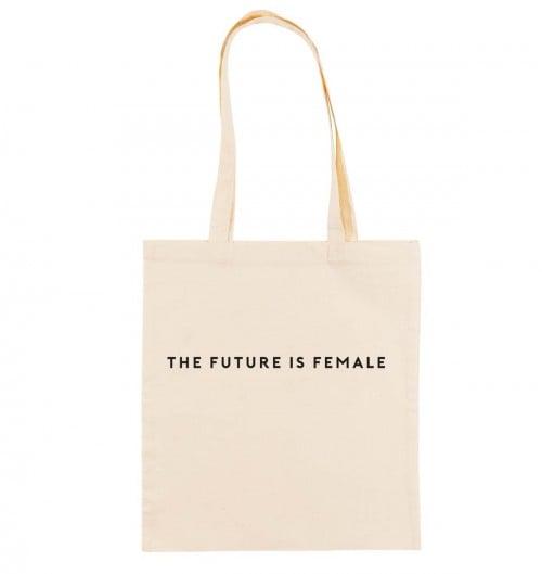 Tote Bag pour Femme The Future Is Female de couleur Crème