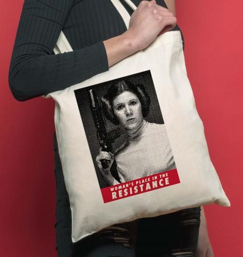 Tote Bag pour Femme Woman's Place de couleur Crème