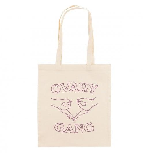 Tote Bag pour Femme Ovary Gang de couleur Crème