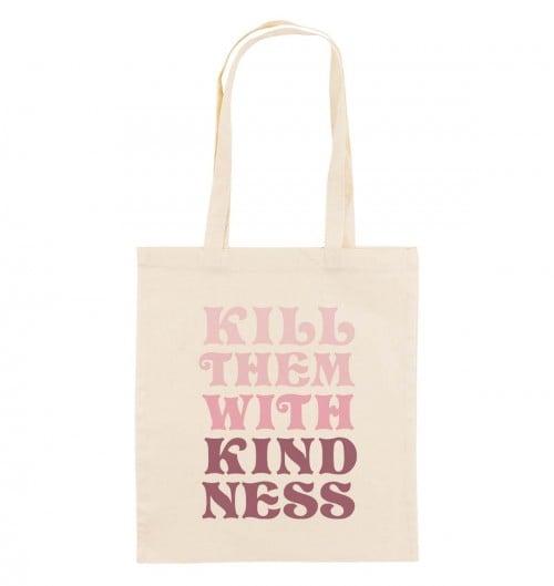 Tote Bag pour Femme Kill Them With Kindness de couleur Crème