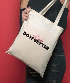 Tote Bag Girls Do It Better de la marque GRL PWR