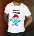 T-shirt à col rond Monsieur Cousteau