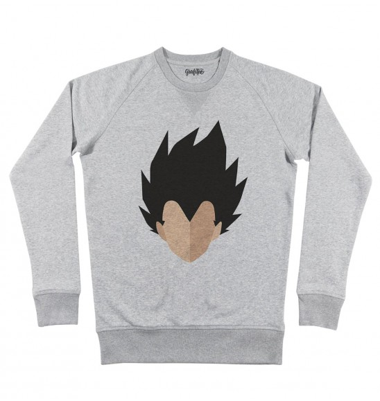 Sweat pour Homme Abstract Vegeta de couleur Gris chiné