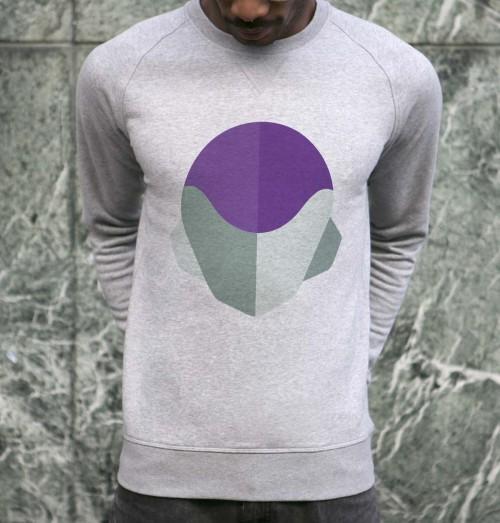 Sweat pour Homme Abstract Freezer de couleur Gris chiné
