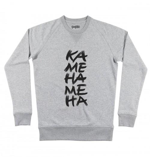 Sweat pour Homme Kamehameha de couleur Gris chiné