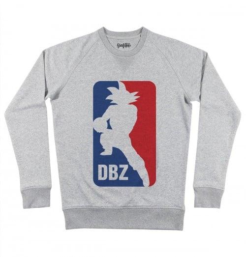 Sweat pour Homme Dragon Ball NBA de couleur Gris chiné
