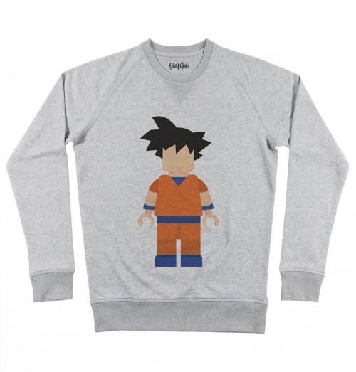 Sweat pour Homme Lego Son Goku de couleur Gris chiné