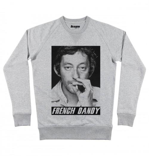 Sweat pour Homme French Dandy de couleur Gris chiné