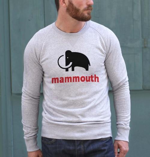 Sweat pour Homme Mammouth de couleur Gris chiné