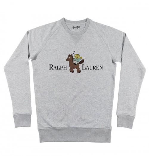 Sweat pour Homme Ralph Lauren de couleur Gris chiné