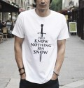 T-shirt à col rond You Know Nothing