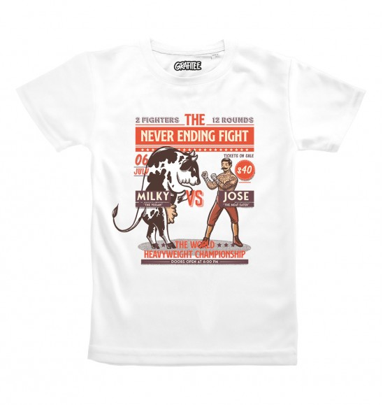 T-shirt pour Homme The never ending fight de couleur Blanc