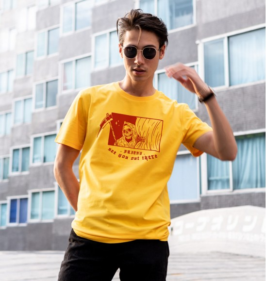 T-shirt pour Homme See you out there de couleur Jaune