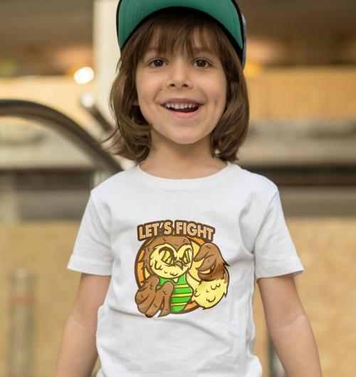 T-shirt pour Enfants Let's fight de couleur Blanc