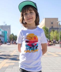 T-shirt pour Enfants Walk on (enfant) de couleur Blanc