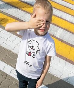 T-shirt pour Enfants Bonobono de couleur Blanc