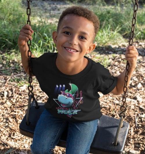 T-shirt pour Enfants Let's rock Denver de couleur Noir