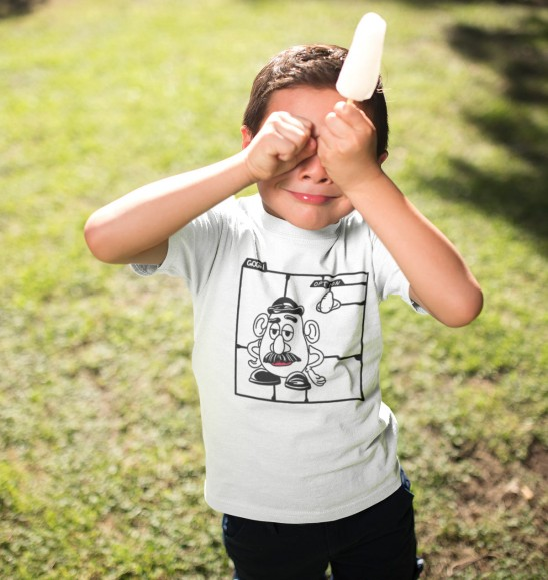 T-shirt pour Enfants Kit Monsieur Patate de couleur Blanc