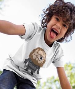 T-shirt pour Enfants Clegane de couleur Blanc