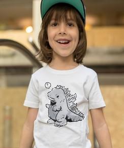 T-shirt pour Enfants Baby Godzilla de couleur Blanc