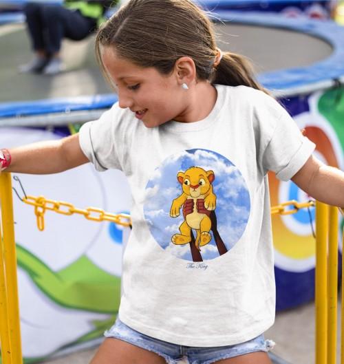 T-shirt pour Enfants Simba Bébé de couleur Blanc