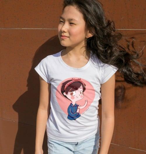 T-shirt pour Enfants We can love it de couleur Blanc