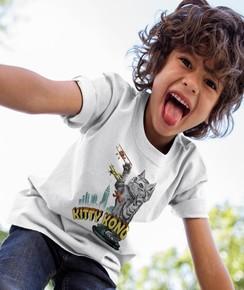 T-shirt pour Enfants Kitty Kong (enfant) de couleur Blanc