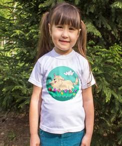 T-shirt pour Enfants Toutou de couleur Blanc