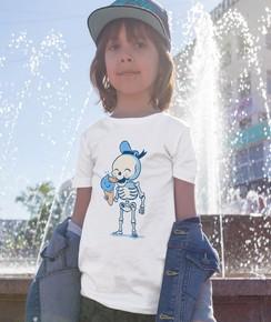 T-shirt pour Enfants Summer vibes (enfant) de couleur Blanc