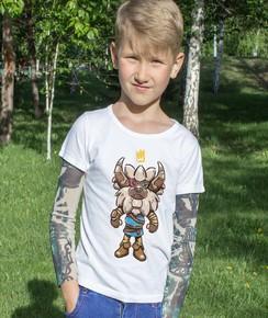 T-shirt pour Enfants Lynel de couleur Blanc
