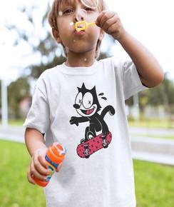 T-shirt pour Enfants Felix Flex de couleur Blanc
