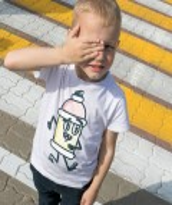 T-shirt pour Enfants Spray Peinture de couleur Blanc