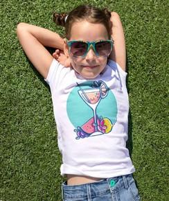 T-shirt pour Enfants Jus de fruit de couleur Blanc