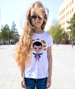 T-shirt pour Enfants Eleven Waffles de couleur Blanc