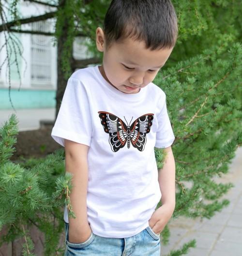 T-shirt pour Enfants Papillon de couleur Blanc