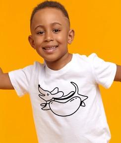 T-shirt pour Enfants Hot Dog (enfant) de couleur Blanc