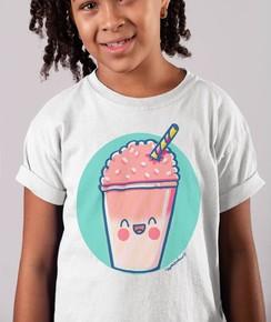 T-shirt pour Enfants Glace granité de couleur Blanc