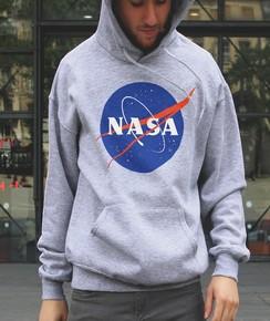 Hoodie logo NASA à col rond