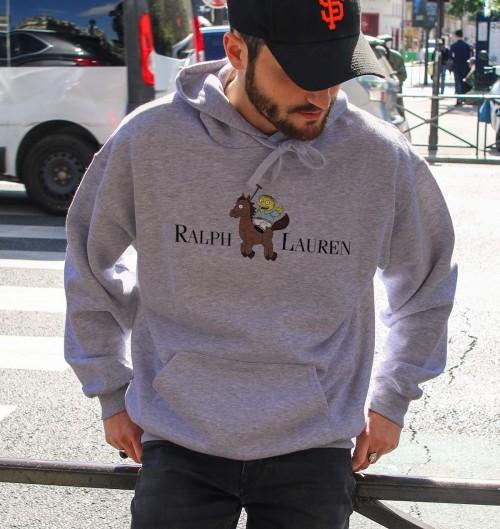Hoodie Ralph Lauren pour Homme de couleur Gris chiné