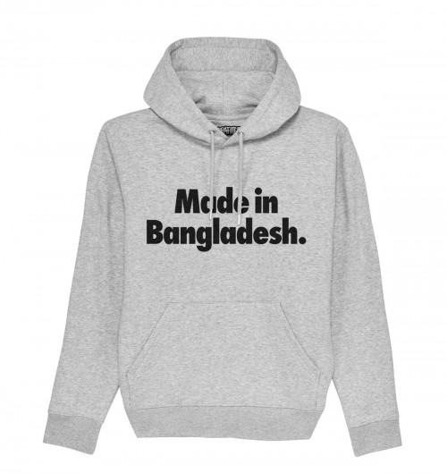Hoodie Made in Bangladesh pour Homme de couleur Gris chiné