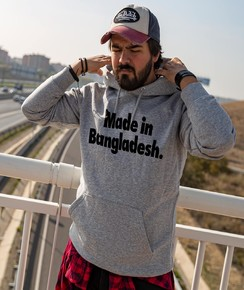 Hoodie Made in Bangladesh à col rond